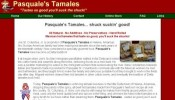 Pasquale's Tamales Website